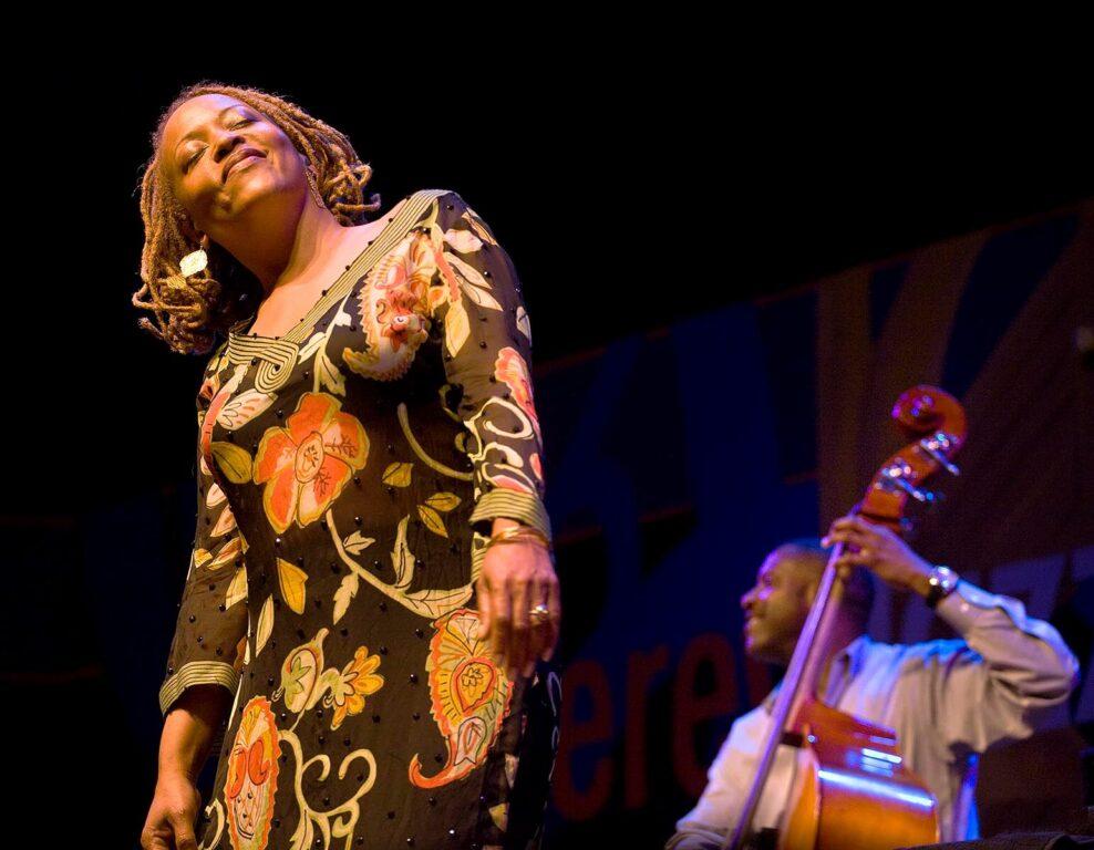 CASSANDRA WILSON sings at the 51st MONTEREY JAZZ FESTIVAL - MONTEREY, CALIFORNIA