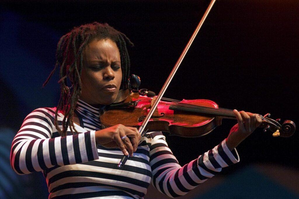 RAGINA CARTER play violin at the MONTEREY JAZZ FESTIVAL - CALIFORNIA
