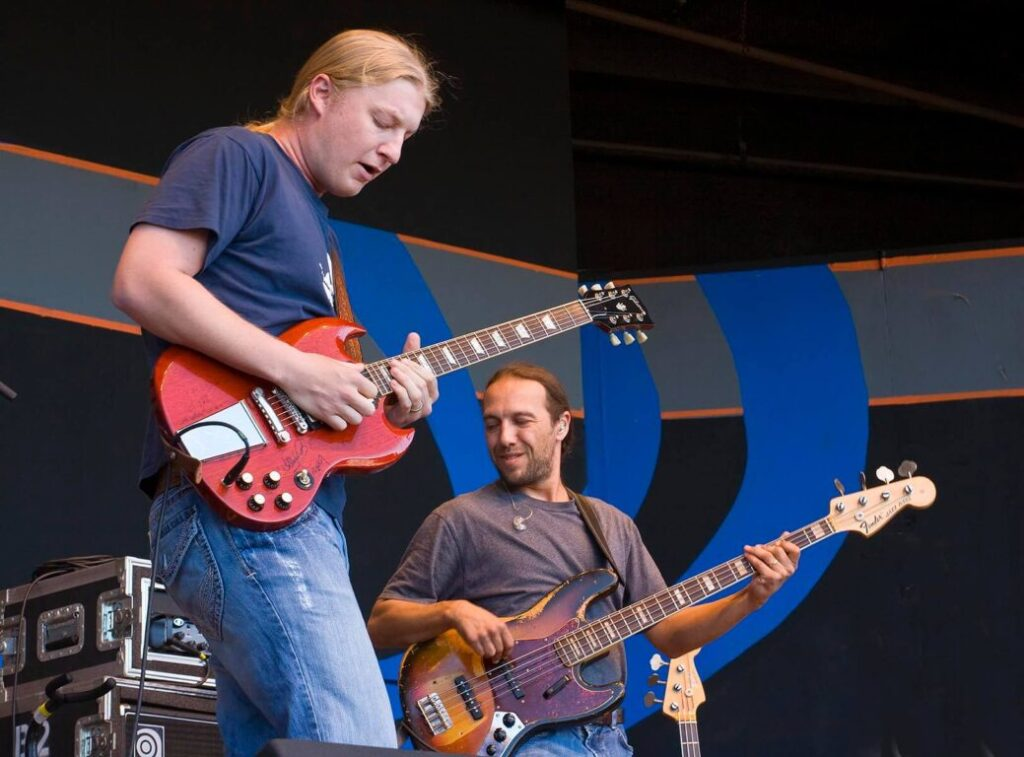 DEREK TRUCKS on lead guitar and TODD SMALLIE on base preform at the 51st MONTEREY JAZZ FESTIVAL - MONTEREY, CALIFORNIA