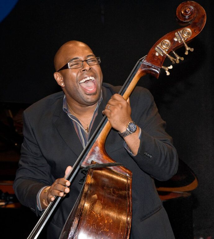 CHRISTIAN MCBRIDE plays the stand up BASE with his quintet at the 51st MONTEREY JAZZ FESTIVAL - MONTEREY, CALIFORNIA