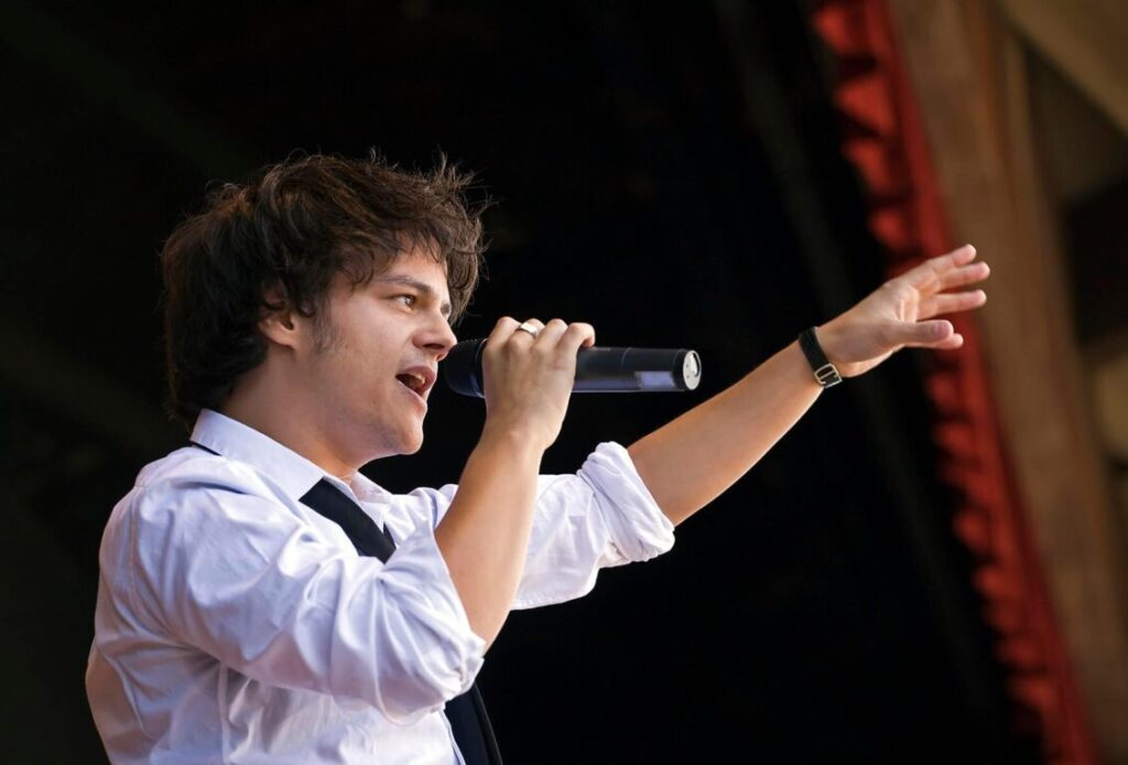 British singer, song writer, and pianist JAMIE CULLUM performs at the 51st MONTEREY JAZZ FESTIVAL - MONTEREY, CALIFORNIA