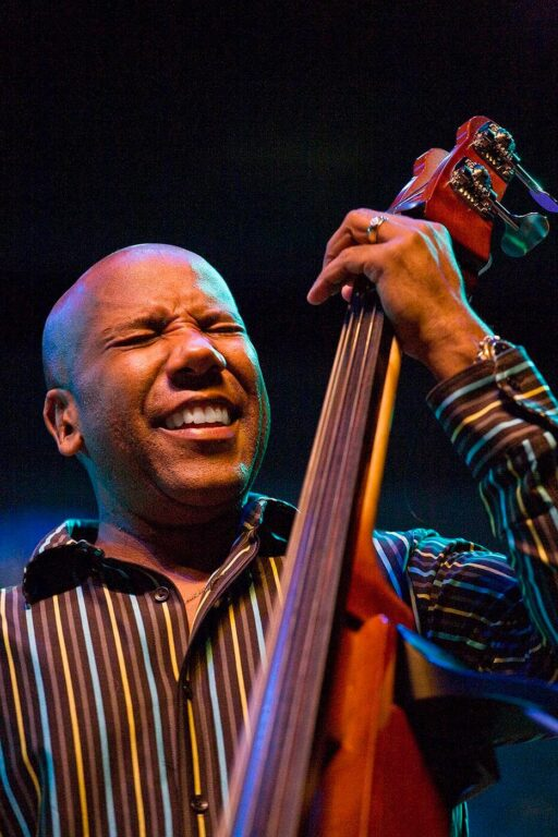 NATHAN EAST plays the stand up base for HERBIE HANCOCK at the 51st MONTEREY JAZZ FESTIVAL - MONTEREY, CALIFORNIA