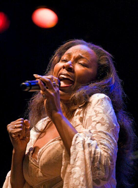 AMY KEYS sings for HERBIE HANCOCK at the 51st MONTEREY JAZZ FESTIVAL - MONTEREY, CALIFORNIA