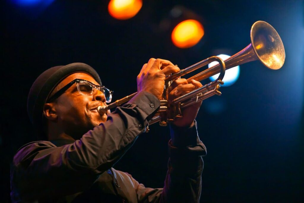 ROY HARGROVE on trumpet with the ROY HARGROVE BIG BAND - 2010 MONTEREY JAZZ FESTIVAL, CALIFORNIA