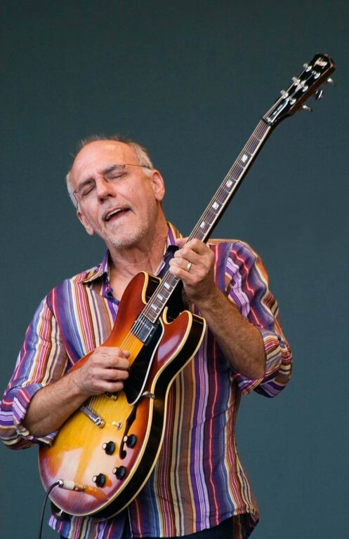 LARRY CARLTON plays guitar with the SAPPHIRE BLUES BAND at the MONTEREY JAZZ FESTIVAL