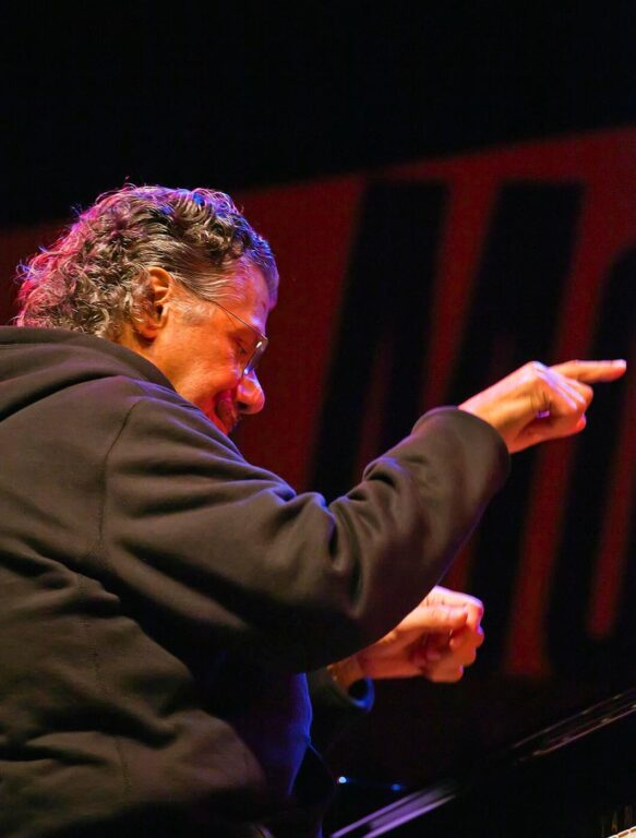 CHICK COREA plays piano on the Jimmy Lyons Stage - 2010 MONTEREY JAZZ FESTIVAL, CALIFORNIA