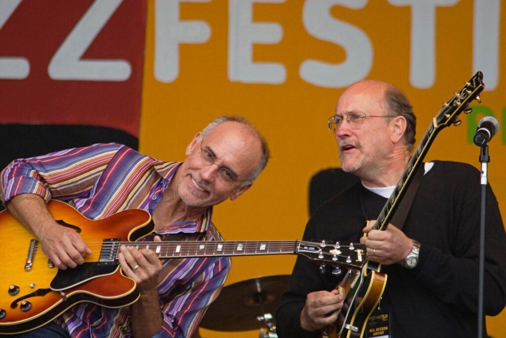 Guitar legend JOHN SCOFIELD with  LARRY CARLTON and the SAPPHIRE BLUES BAND at the MONTEREY JAZZ FESTIVAL