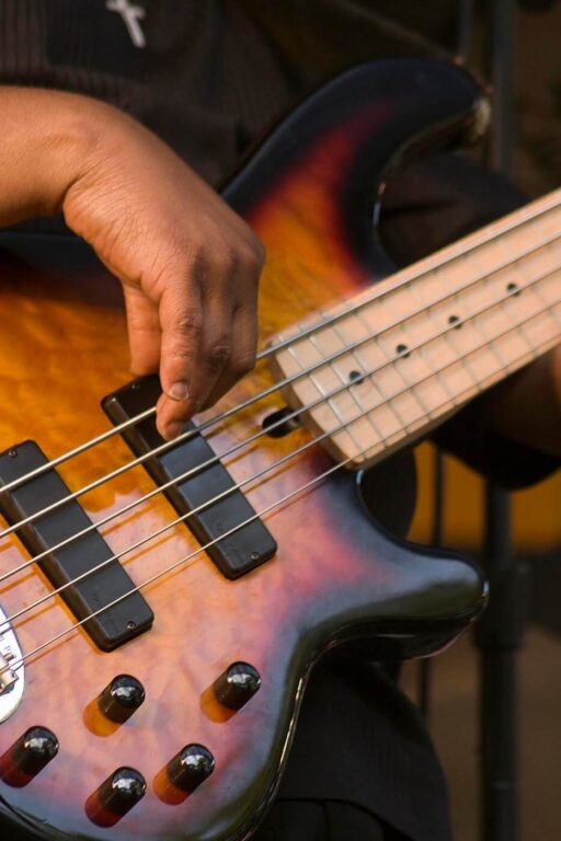 BASS GUITAR being played at the MONTEREY JAZZ FESTIVA