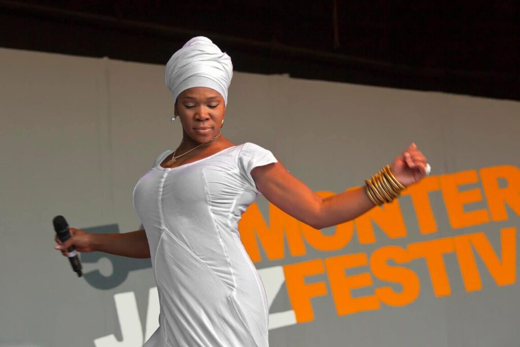 INDIA ARIE performs on the Jimmy Lyons Stage - 54TH MONTEREY JAZZ FESTIVAL 2011