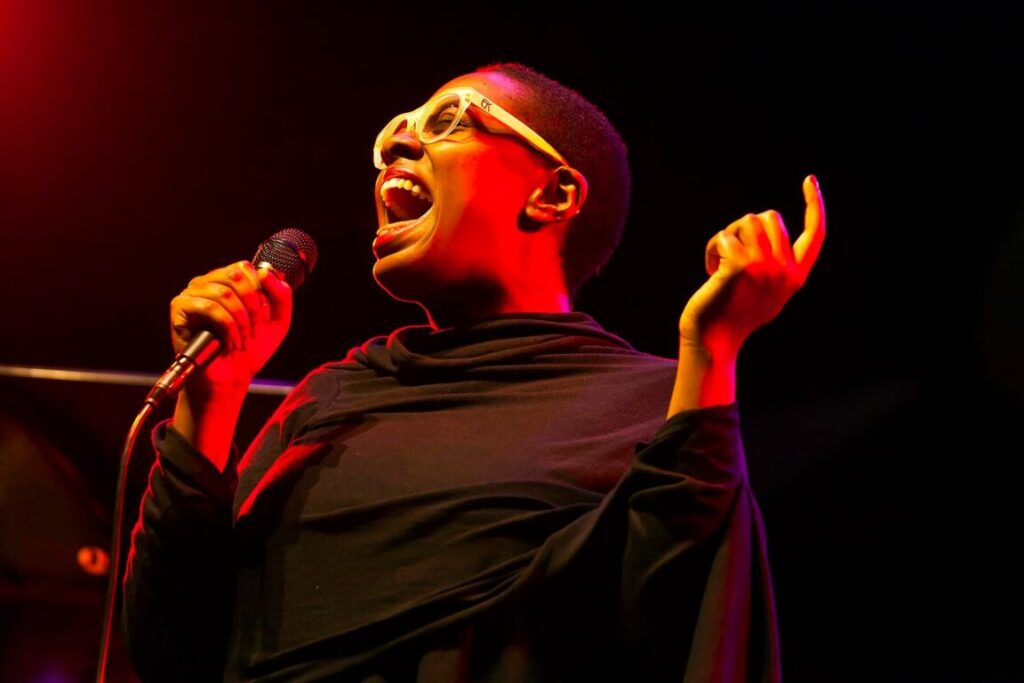 CELIA MCLORIN sings on the main stage at the 2014 MONTEREY JAZZ FESTIVAL