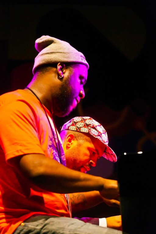 JASON MORAN plays a duet with the ROBERT GLASPER EXPERIMENT on the main stage at the MONTEREY JAZZ FESTIVAL