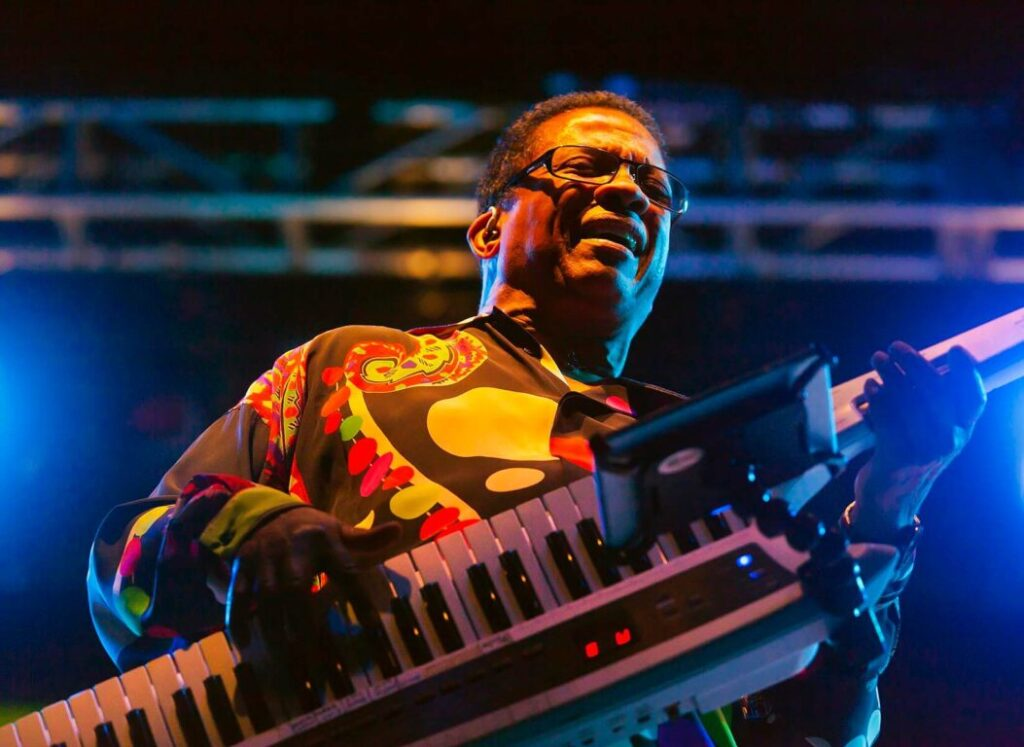 HERBIE HANCOCK preforms on the main stage at the MONTEREY JAZZ FESTIVAL