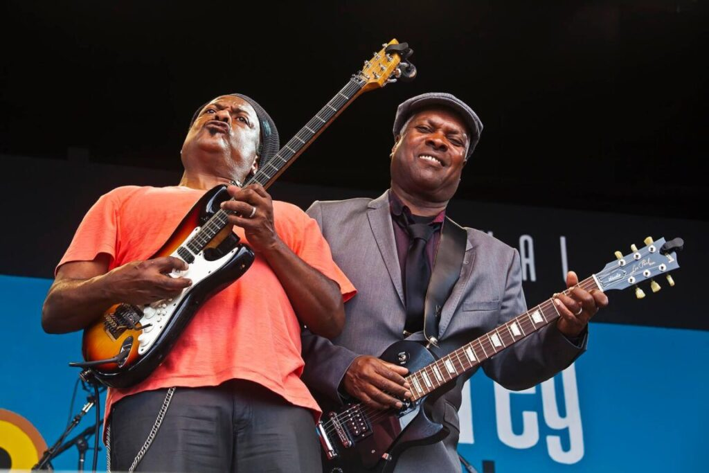 BOOKER T JONES and VERNON BLACK preform on the main stage at the MONTEREY JAZZ FESTIVAL