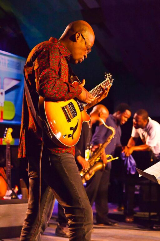 LIONEL LOUEKE preforms with a tribute band for BLUE NOTE RECORDS 75TH ANNIVERSARY at the 2014 MONTEREY JAZZ FESTIVAL