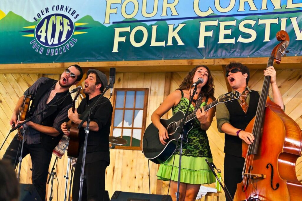 CARAVAN OF THIEVES performs at the 2014 FOUR CORNERS FOLK FESTIVAL - COLORADO