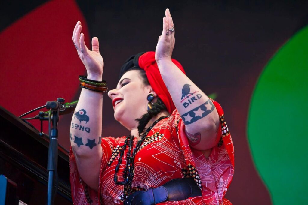 DAVINA AND THE VAGABONDS perform on the Jimmy Lyons Stage - 59th MONTEREY JAZZ FESTIVAL, CALIFORNIA