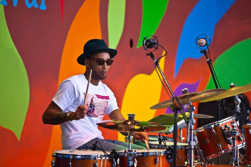 BRENTON TARON LOCKETT plays drums for CORY HENRY and the FUNK APOSTLES at the 59th MONTEREY JAZZ FESTIVAL - MONTEREY, CALIFORNIA
