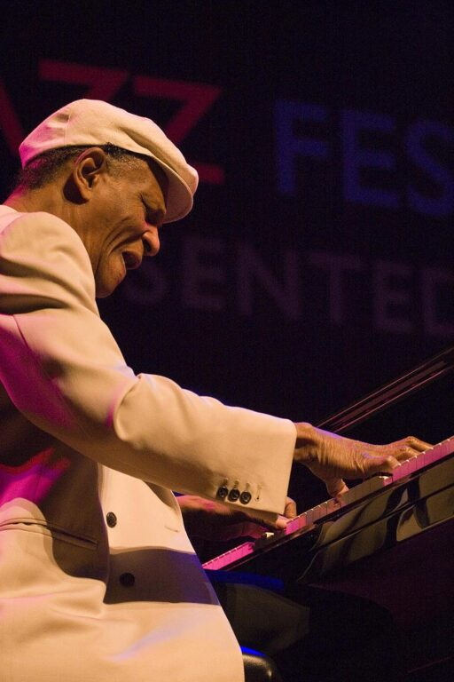 MCCOY TYNER (Piano) performs with the MCCOY TYNER TRIO  at THE MONTEREY JAZZ FESTIVAL
