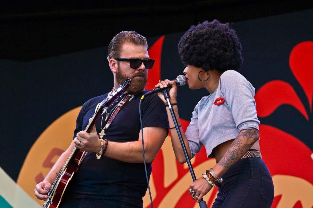 Nikki Hill sings with husband Matt Hill on guitar at the 58th Monterey Jazz Festival - California