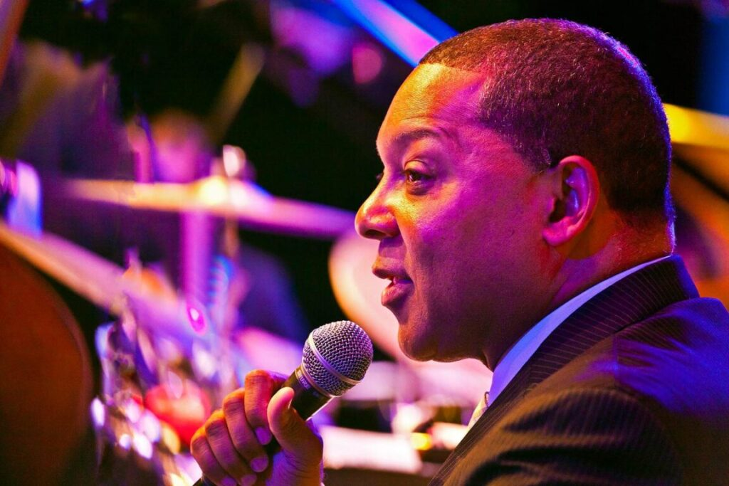 Wynton Marsalis and the Lincoln Center Orchestra perform at the 58th Monterey Jazz Festival - California
