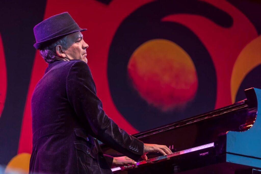 BRAD MEHLDAU  plans grand piano accompanied by Chris Thile - 60th MONTEREY JAZZ FESTIVAL, CALIFORNIA