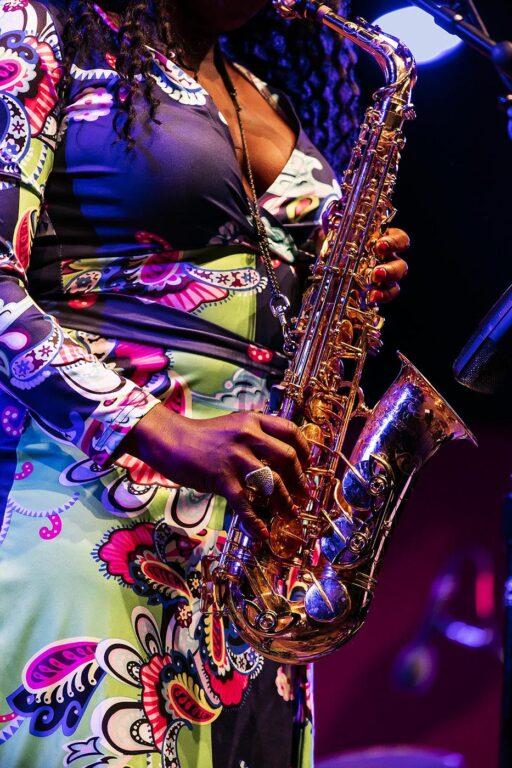 TIA FULLER plays saxophone at the 61st MONTEREY JAZZ FESTIVAL - MONTEREY, CALIFORNIA