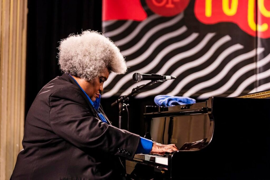 TAMMY L. HALL and her PEACE-TET perform at the 61st MONTEREY JAZZ FESTIVAL - MONTEREY, CALIFORNIA.