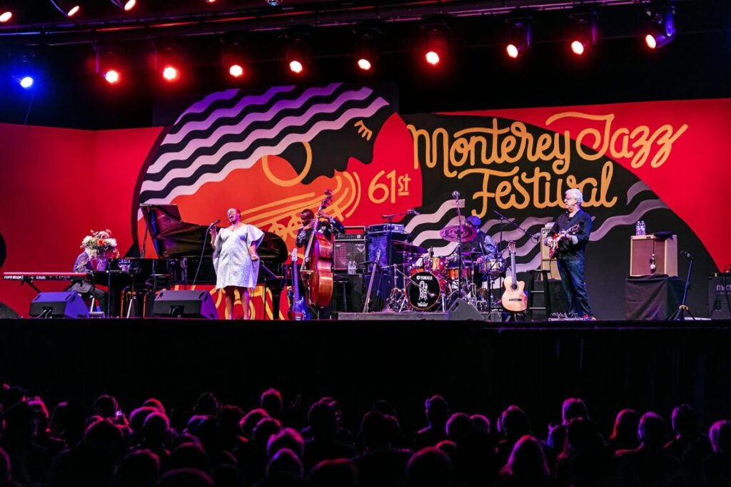 DIANNE REEVES performs at the 61st Monterey Jazz Festival - MONTEREY, CALIFORNIA