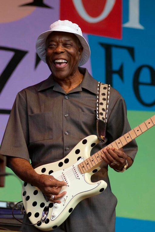 Buddy Guy plays guitar and sings at the MONTEREY JAZZ FESTIVAL - CALIFORNIA