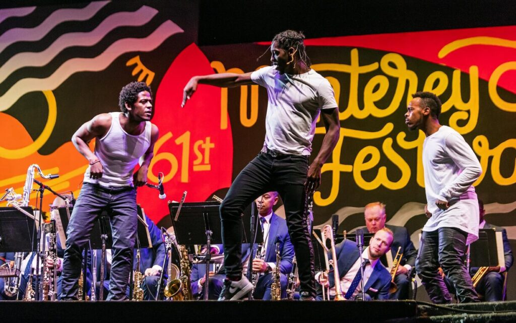 JAZZ AT LINCOLN CENTER ORCHESTRA with WYNTON MARSALIS and the dancers LIL BUCK and JARED GRIMES at the 61st MONTEREY JAZZ FESTIVAL - MONTEREY, CALIFORNIA.