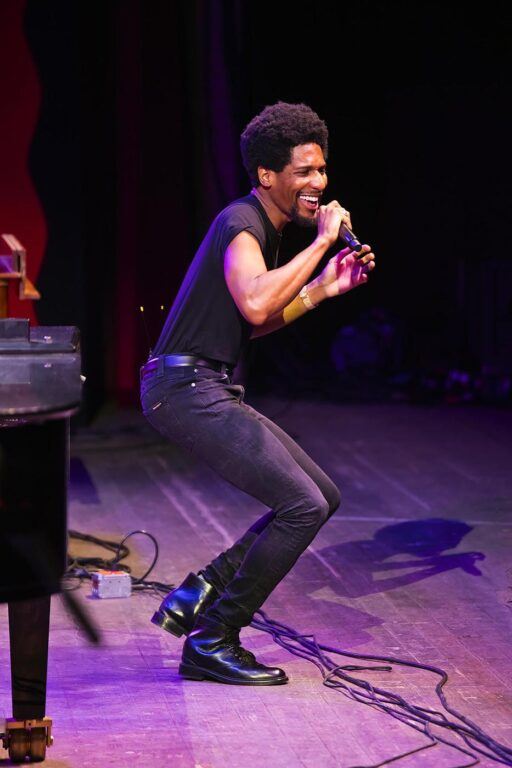 JON BATISTE WITH THE DAP-KINGS performing on the main stage at the 61st Monterey Jazz Festival - MONTEREY, CALIFORNIA