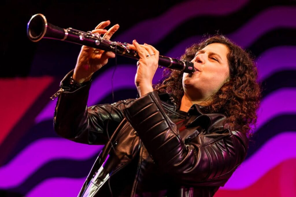 ANAT COHEN plays clarinet with her TENTET on the main stage at the 61st MONTEREY JAZZ FESTIVAL - MONTEREY, CALIFORNIA