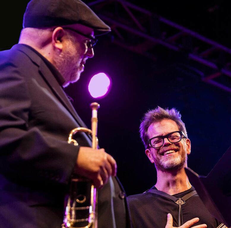 RANDY BRECKER and DONNY MCCASLIN for the CELEBRATION OF MICHAEL BRECKER on the main stage at the 61st MONTEREY JAZZ FESTIVAL - MONTEREY, CALIFORNIA