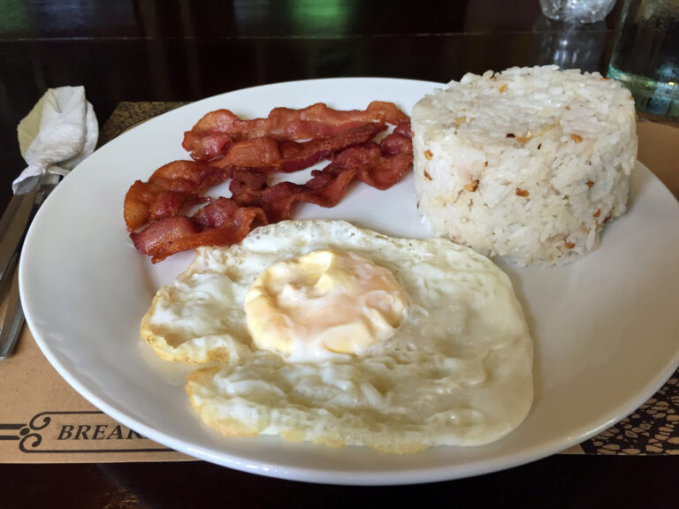 Baconsilog in Puerto Princesa, Philippines