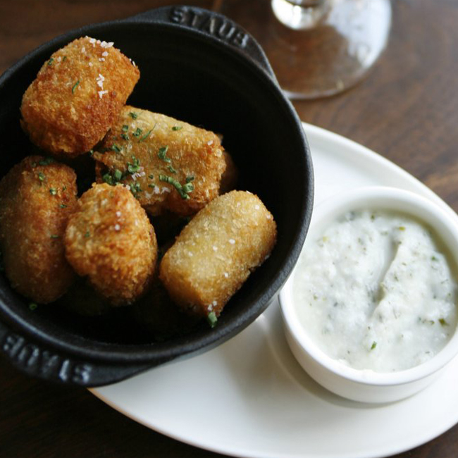 Bacon and chive tater tots
