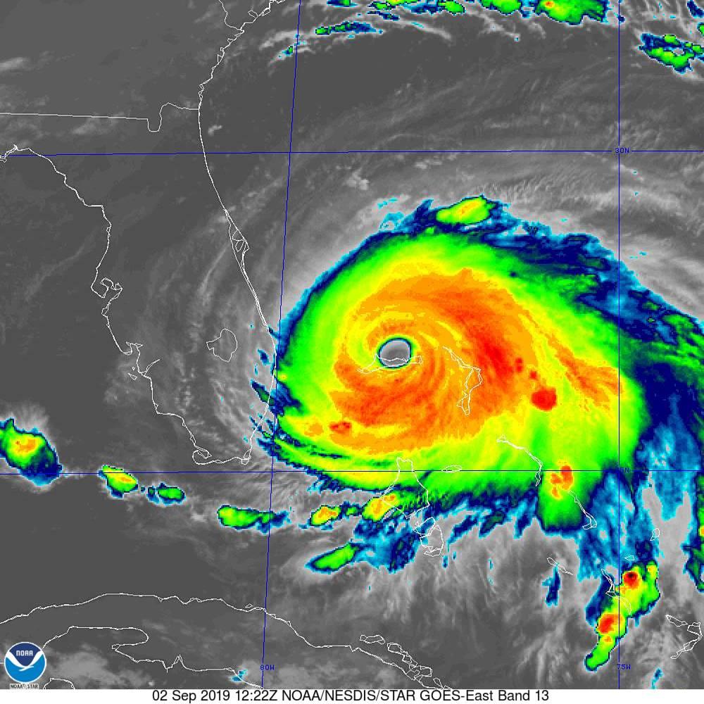 Hurricane Dorian radar image.