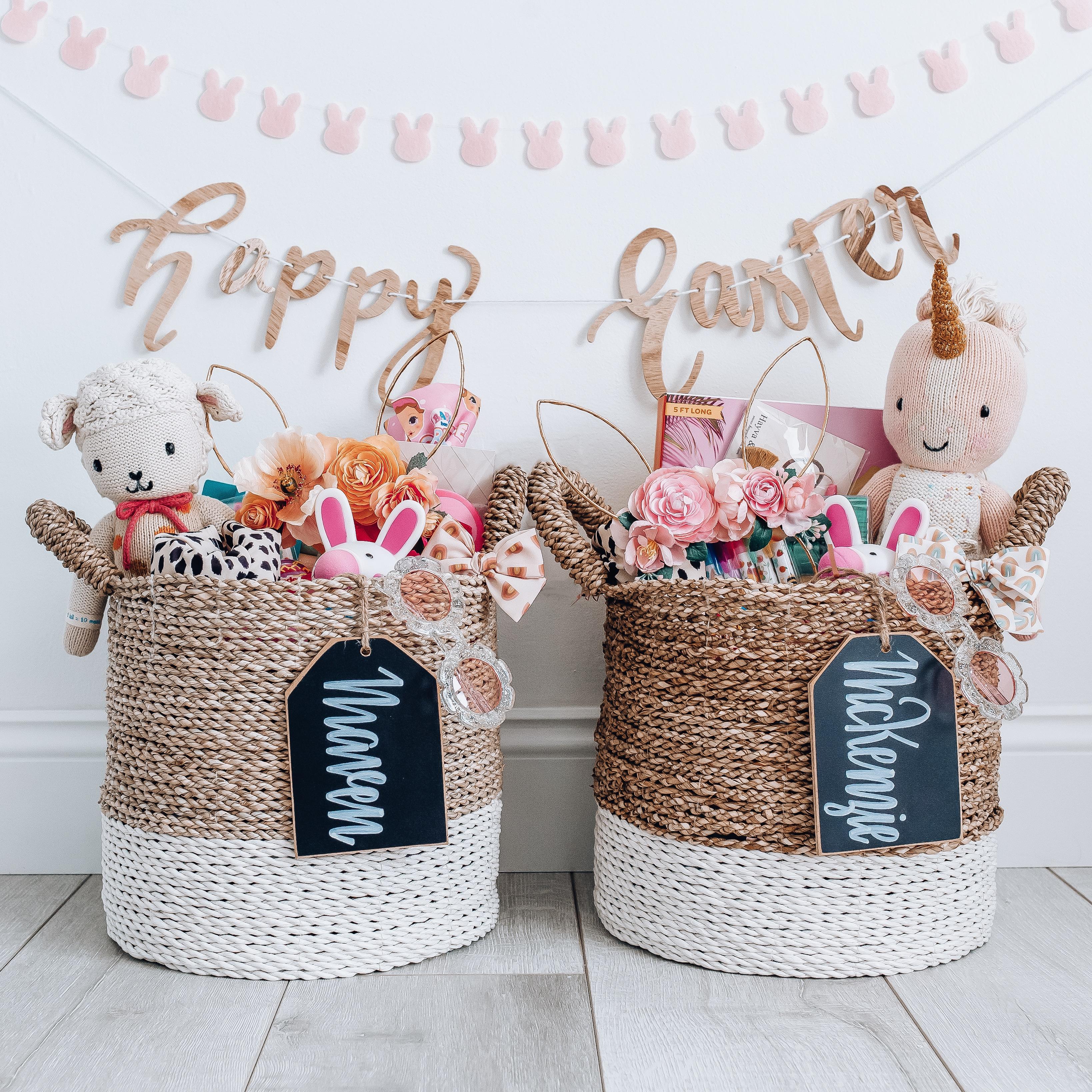 kid-friendly easter baskets, easter basket ideas, happy easter