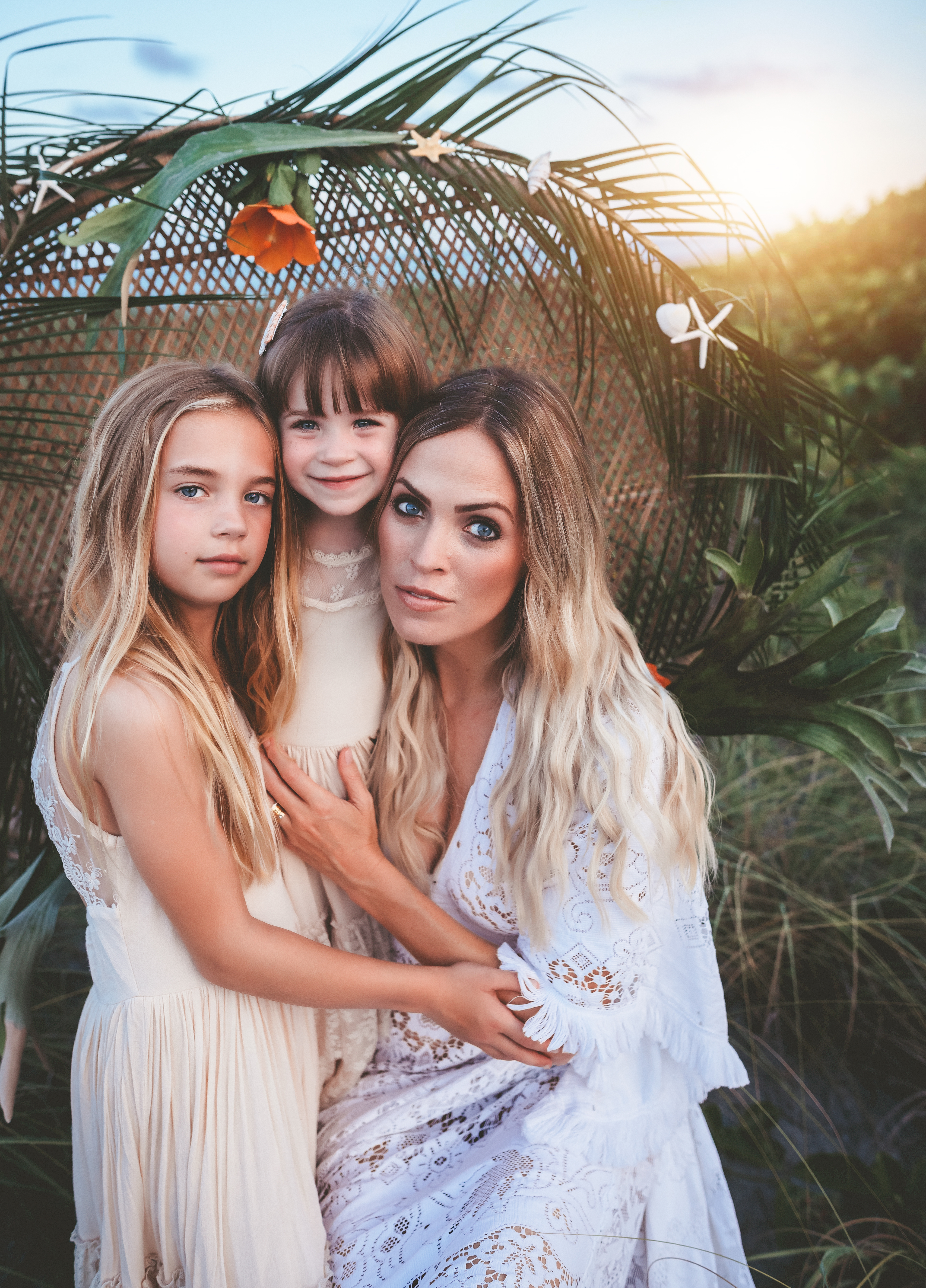 boho mommy and daughter photoshoot