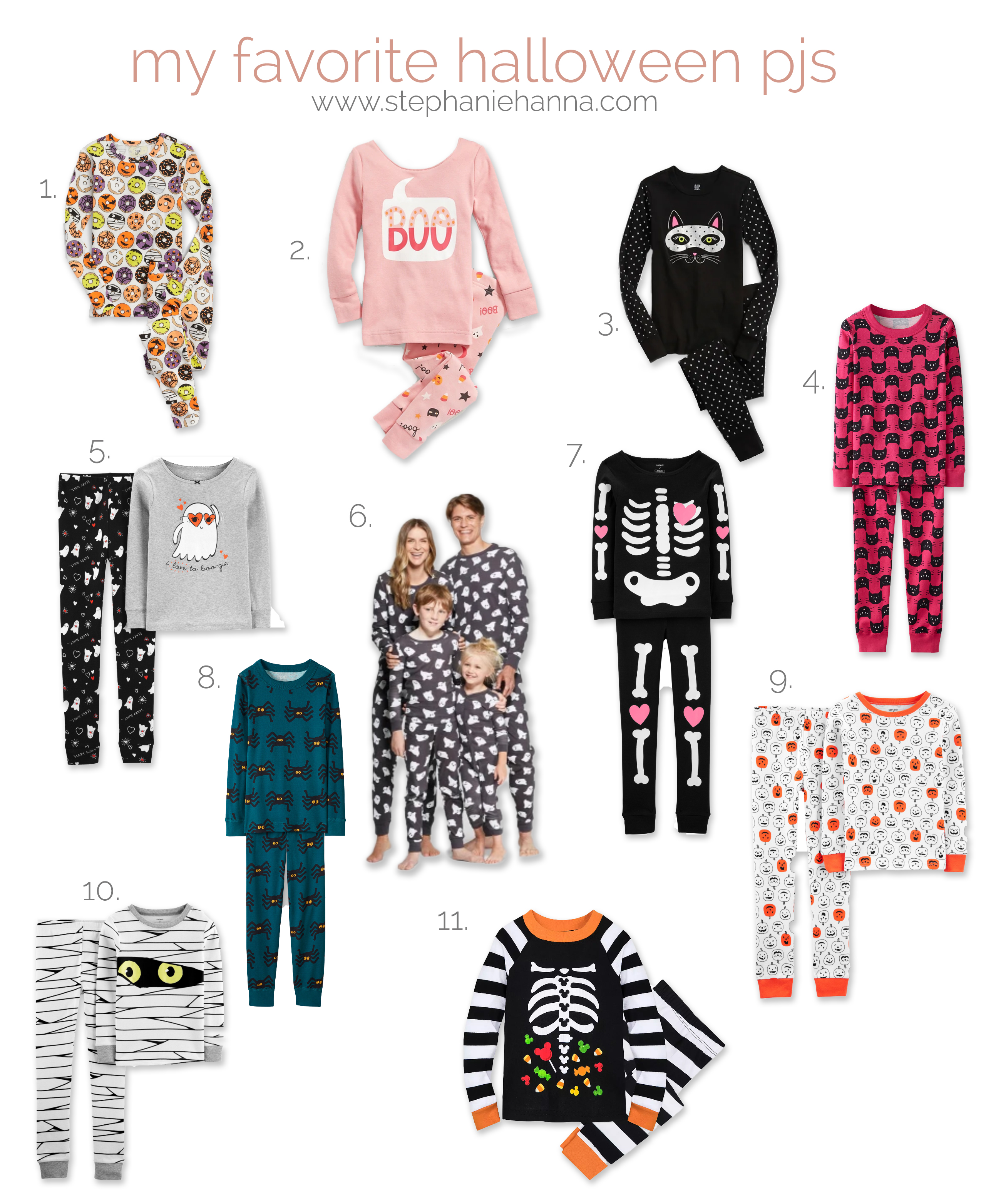 Cozy Halloween Pajamas for kids and the whole family