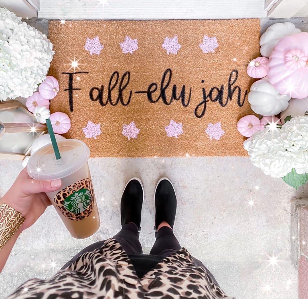 How to Make a DIY Fall Doormat