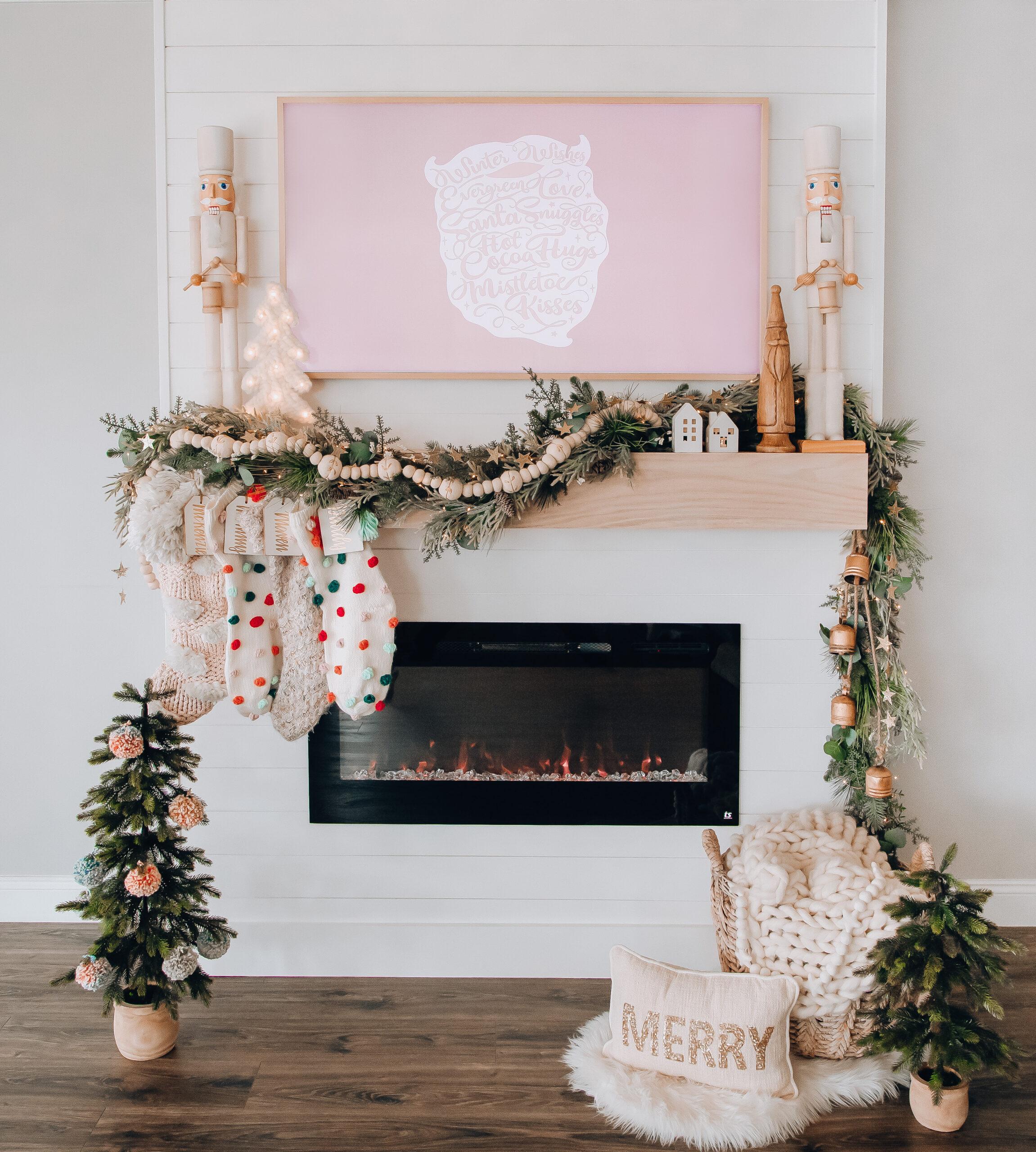 DIY Christmas mantel with boho vibes