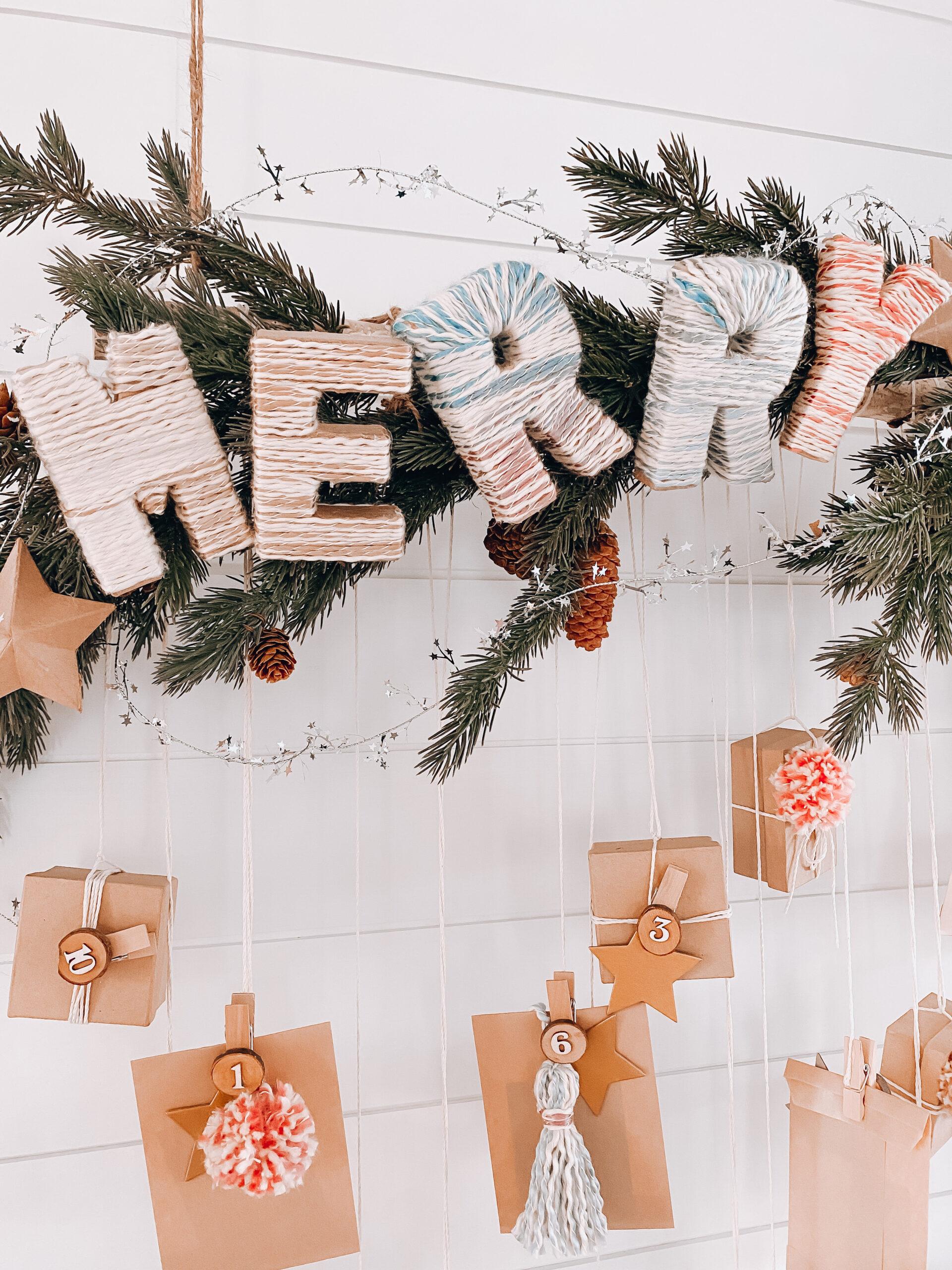 Advent Calendar, merry decor, advent calendar gift boxes