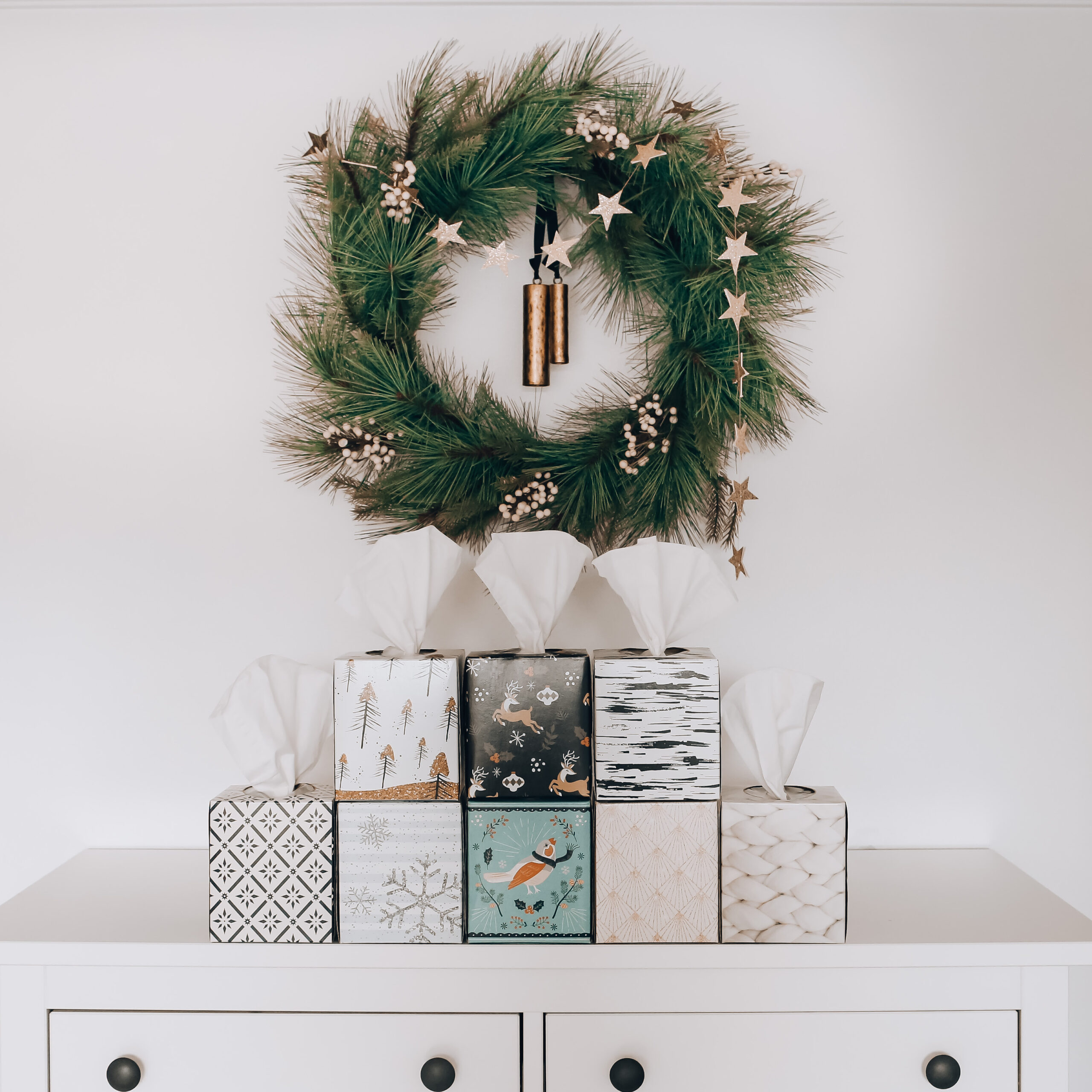 Scottie's Holiday Tissue collection, decorating for the holidays