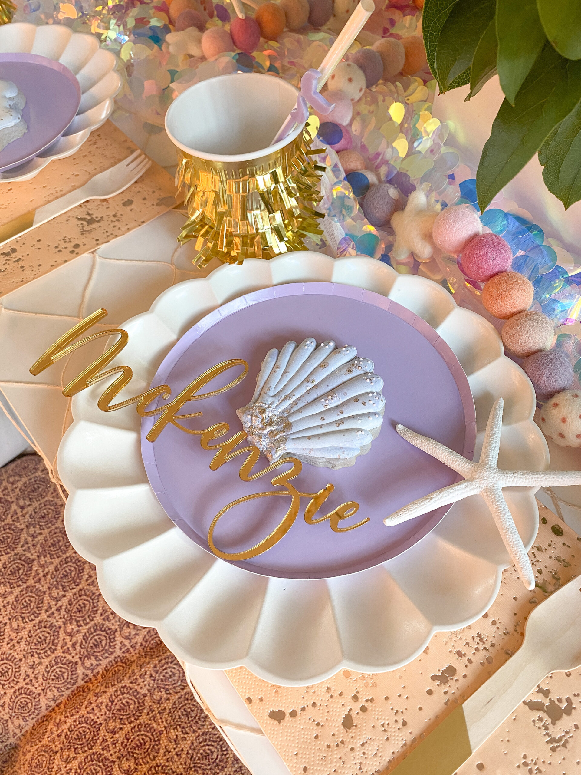Mermaid themed party, mermaid tablescape ideas, turning 5