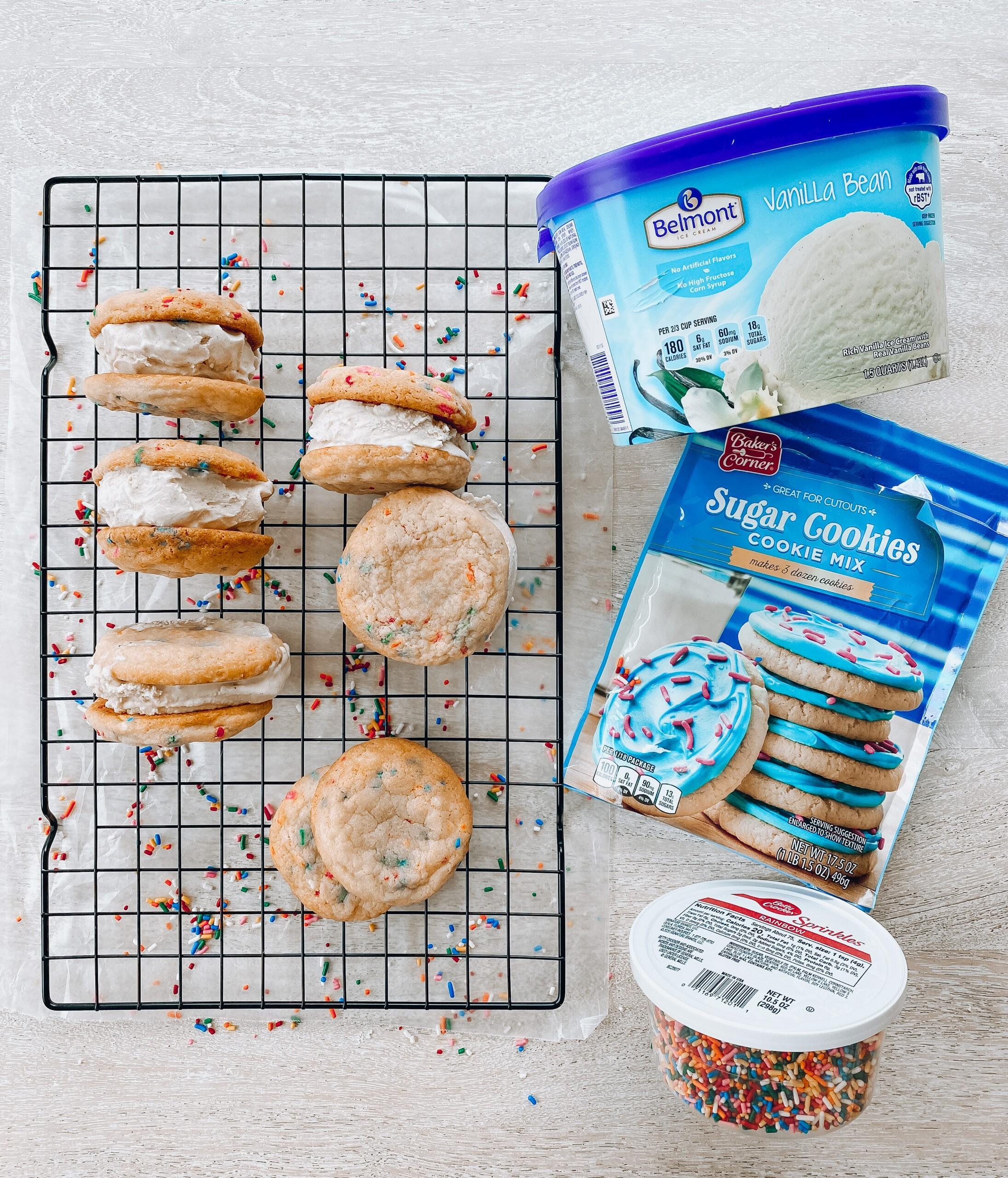 Ice cream sandwiches from Aldi, summer activities for kids, kid-friendly summer treats