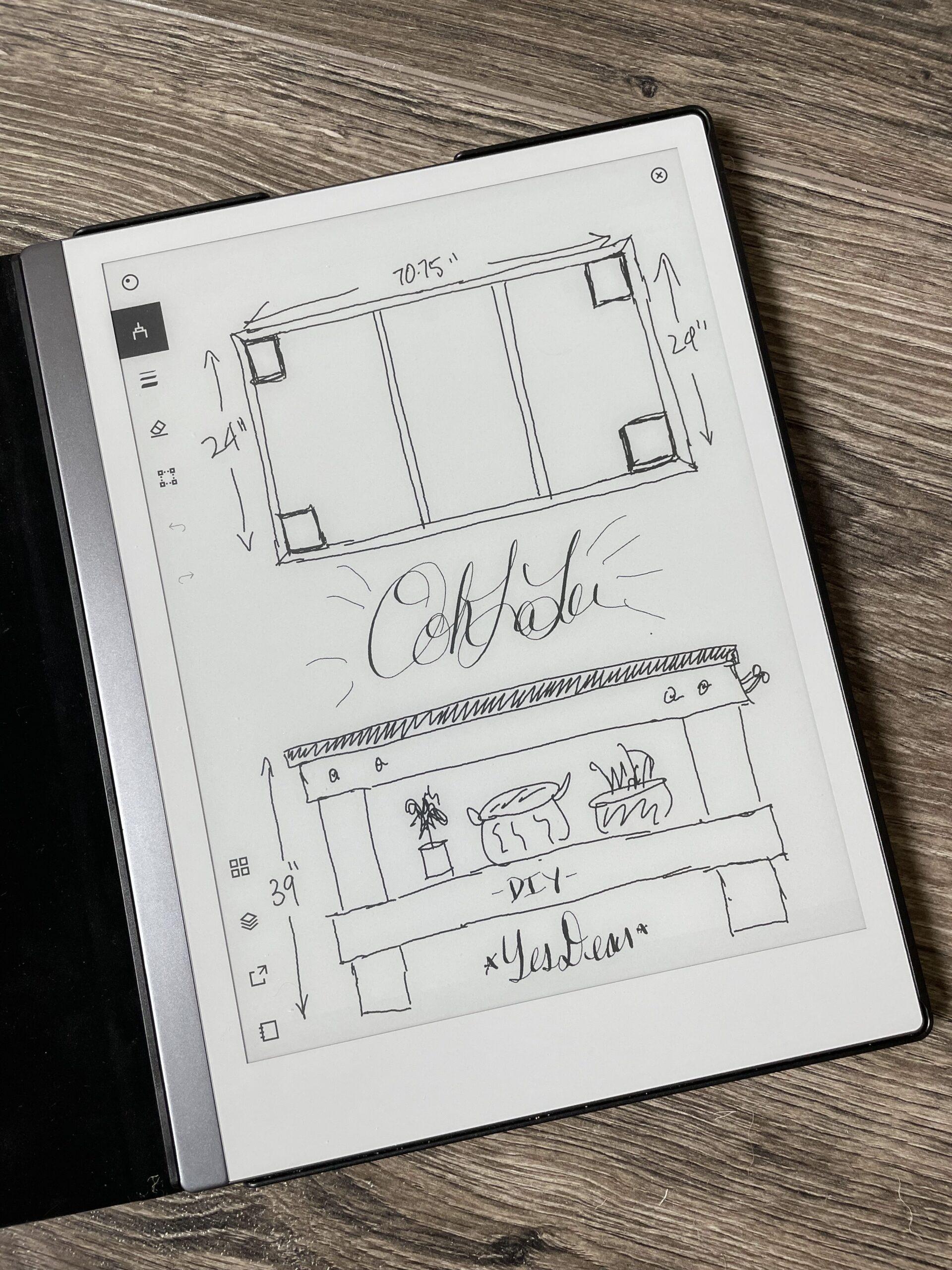 Original Sketch - DIY Workbench