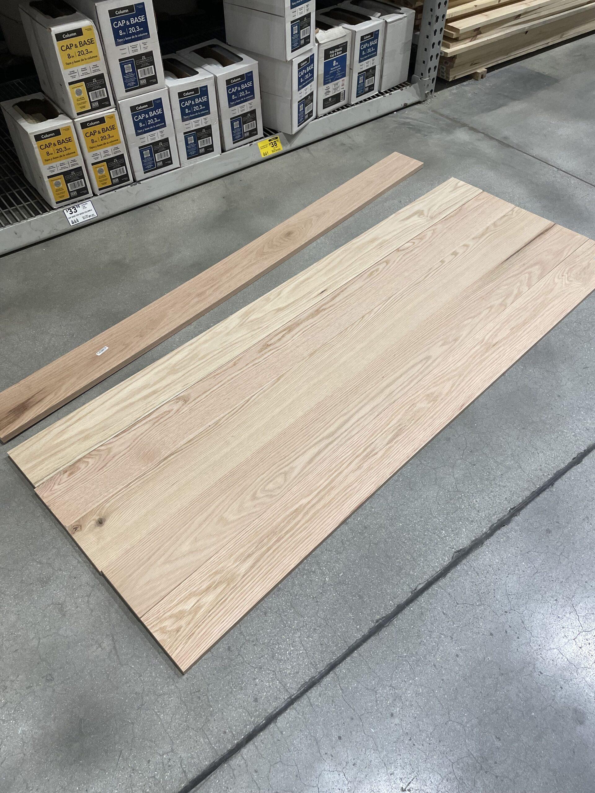 Lumber Choice - Oak - DIY Craft Table
