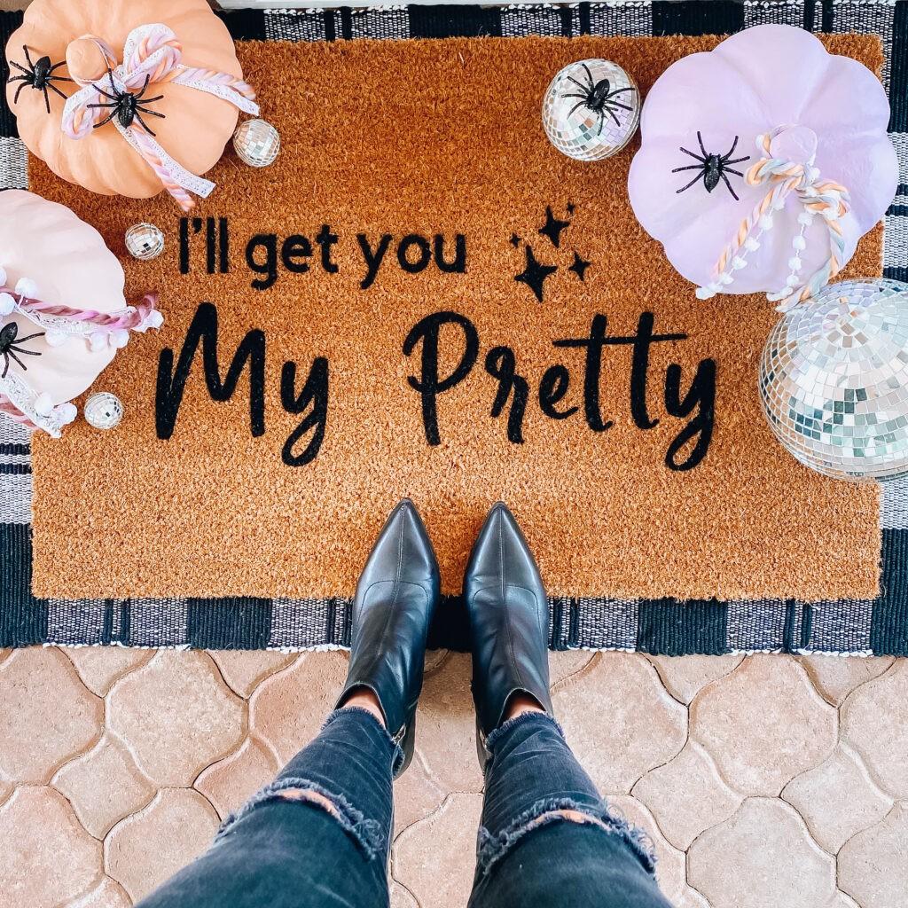 halloween doormat Ill get you my pretty