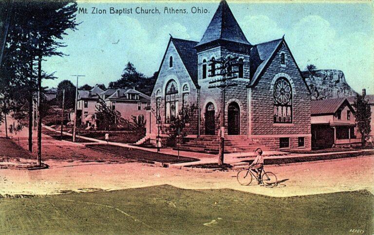 Postcard of the Mt. Zion Baptist Church, 1909. Courtesy of Ada Woodson Adams.