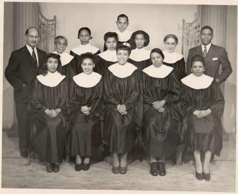 Mount Zion choir, 1930.